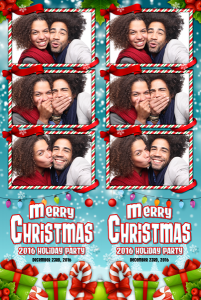Merry Christmas 3 Photo Strip