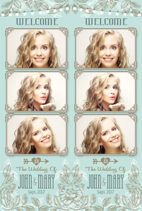 Aqua Wedding 3 Photo Strip